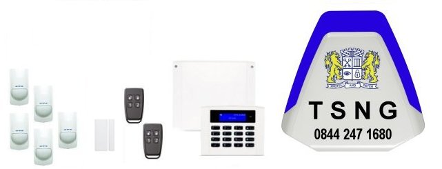 England, Wales, UK served by TSNG Alarm Installers - Orisec Intruder Alarms and Home Automation